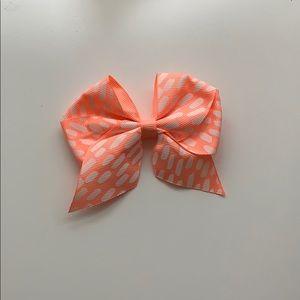 Orange and White hair bow!